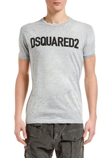 Dsquared2 Men's Paint-Splatter Logo Typographic T-Shirt