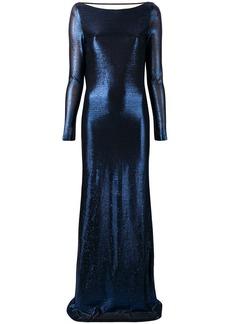 Dsquared2 metallic empire-line dress