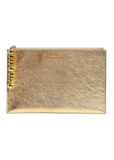 Dsquared2 Metallic Leather Pouch