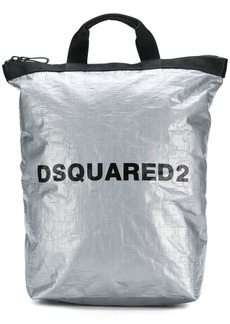 Dsquared2 metallic logo backpack