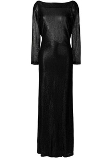 Dsquared2 metallic open back dress