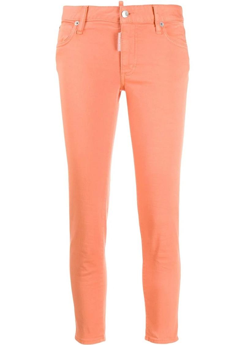 Dsquared2 mid rise logo apliqué skinny jeans