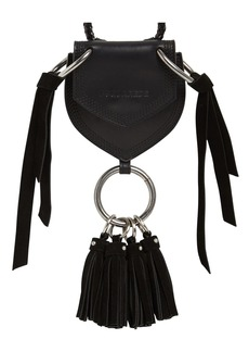 Dsquared2 Mini Leather Coin Wallet W/ Tassels