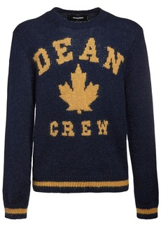 Dsquared2 Mohair Jacquard Knit Sweater