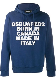 Dsquared2 motto print hoodie