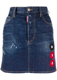 Dsquared2 multi-patch A-line denim skirt