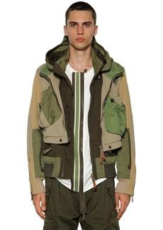 Dsquared2 Multi Pocket Cotton Twill Bomber Jacket