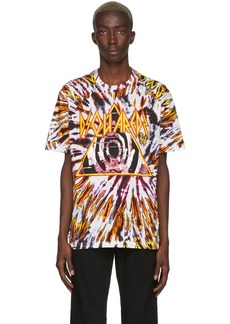 Dsquared2 Multicolor & Yellow Tie-Dye Logo T-Shirt