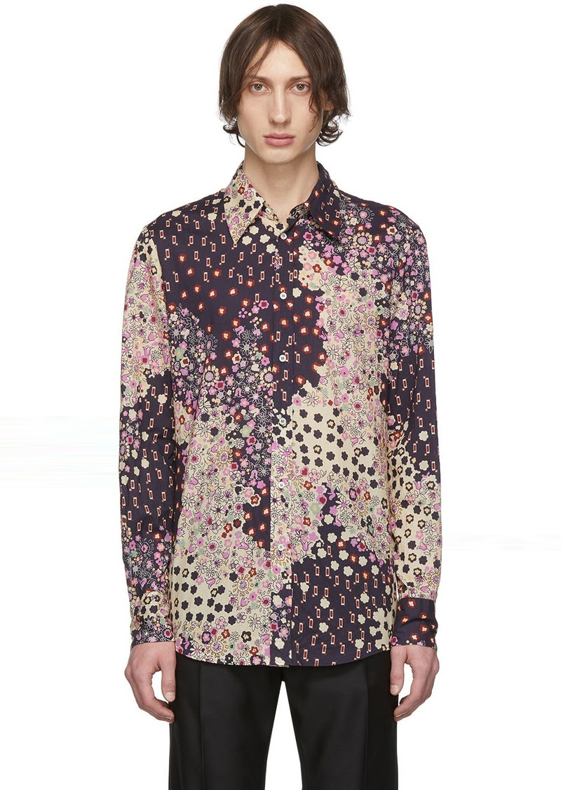 Dsquared2 Multicolor Flowers Shirt