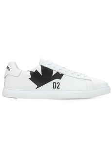 Dsquared2 New Tennis Maple Print Leather Sneakers