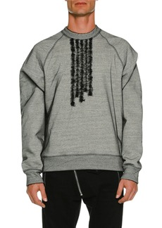 Dsquared2 Organza Overlay Long-Sleeve Sweatshirt