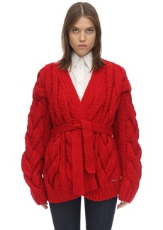 Dsquared2 Oversize Acrylic Blend Knit Cardigan