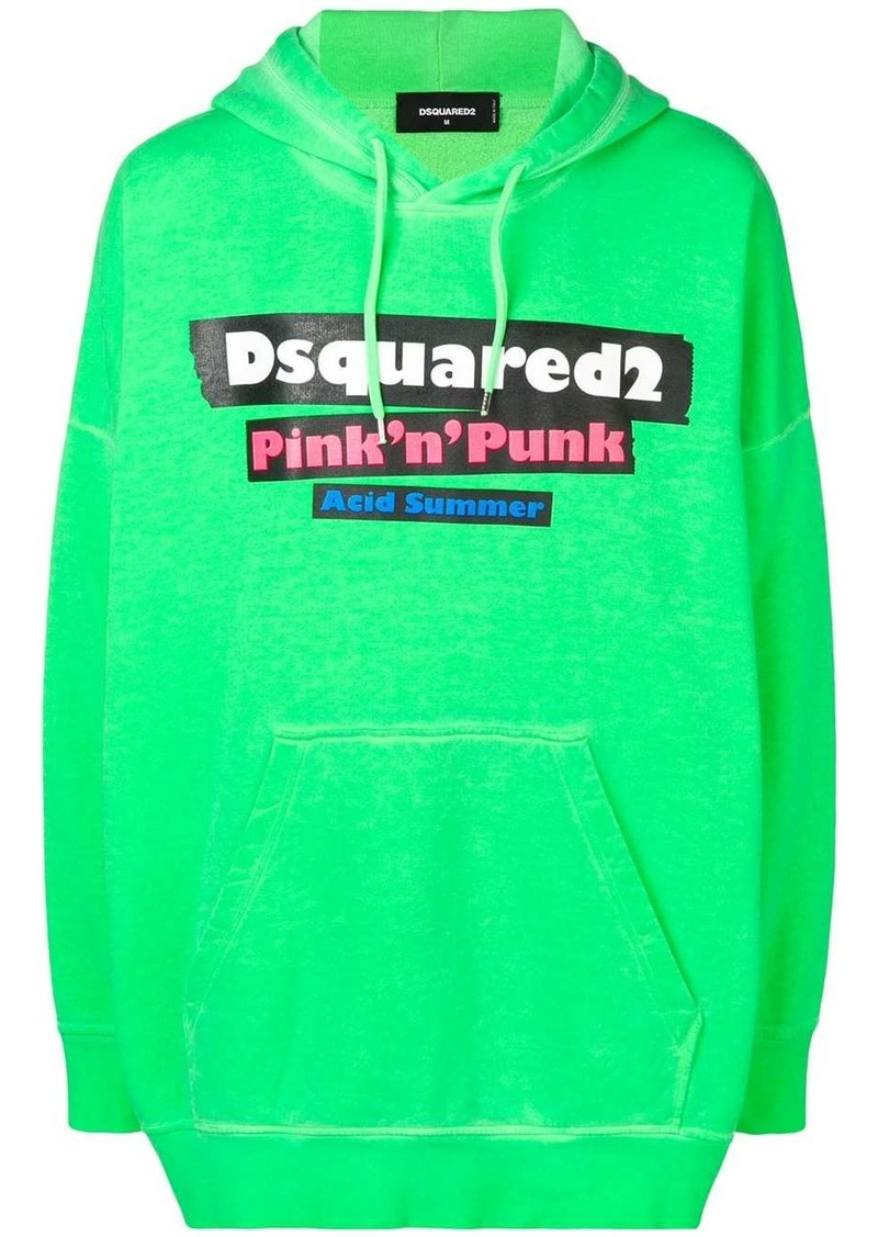 Dsquared2 oversized hooded sweatshirt