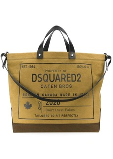 Dsquared2 oversized logo-print tote