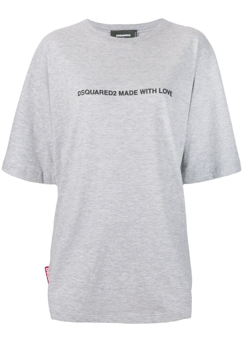 Dsquared2 oversized made with love T-shirt