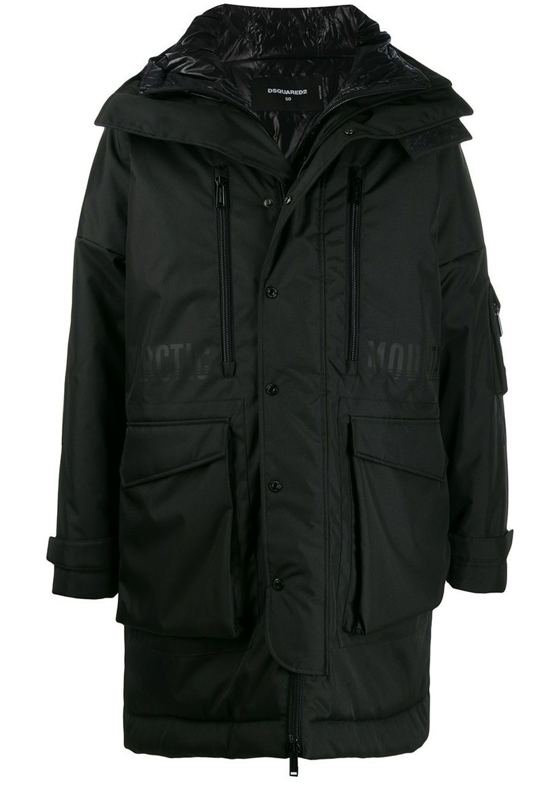Dsquared2 oversized parka coat