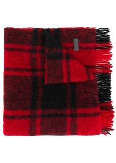 Dsquared2 oversized plaid scarf
