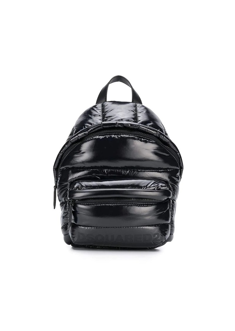Dsquared2 padded logo print backpack