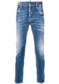 Dsquared2 paint splatter-effect Skater jeans