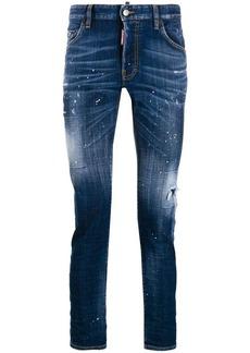 Dsquared2 paint splatter skinny jeans