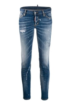 Dsquared2 paint splattered skinny jeans