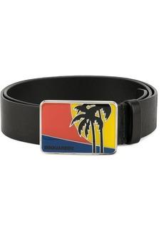 Dsquared2 Palm Tree buckle belt