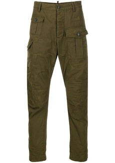 Dsquared2 panelled frayed trousers