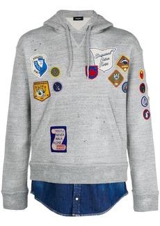 Dsquared2 patch appliqué hoodie