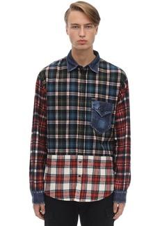 Dsquared2 Patchwork Cotton Check Shirt