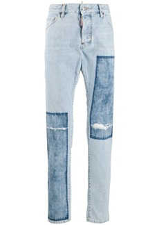 Dsquared2 patchwork detailed straight jeans