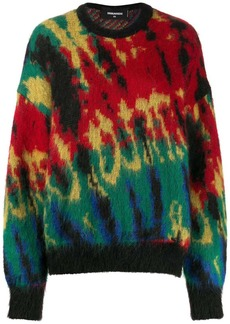 Dsquared2 patterned fuzzy knit jumper