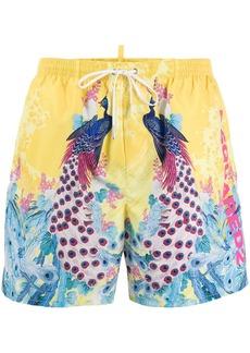 Dsquared2 peacock swim shorts