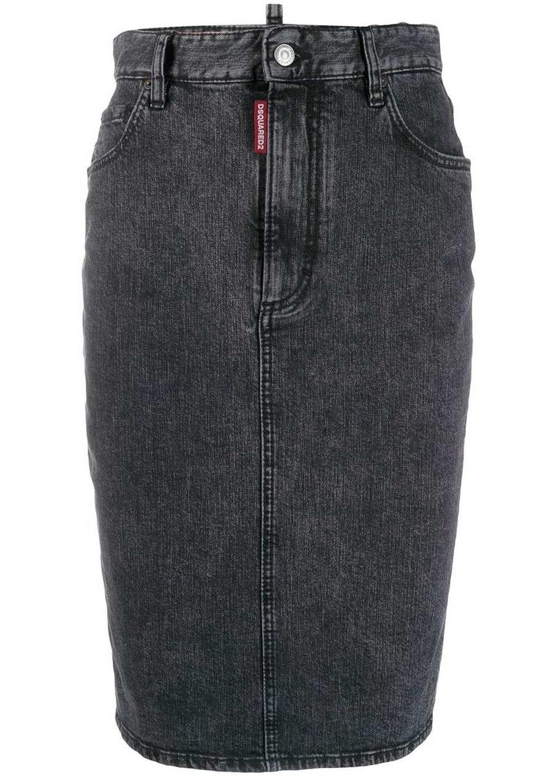 Dsquared2 pencil denim skirt