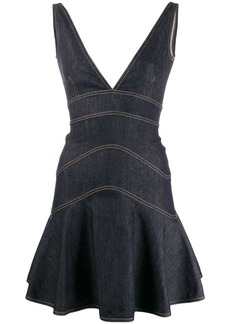 Dsquared2 peplum denim mini dress