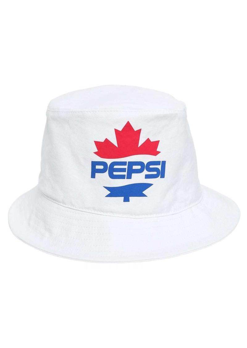 Dsquared2 Pepsi Logo Cotton Bucket Hat