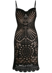Dsquared2 perforated details midi dress