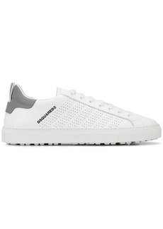 Dsquared2 perforated low-top trainers