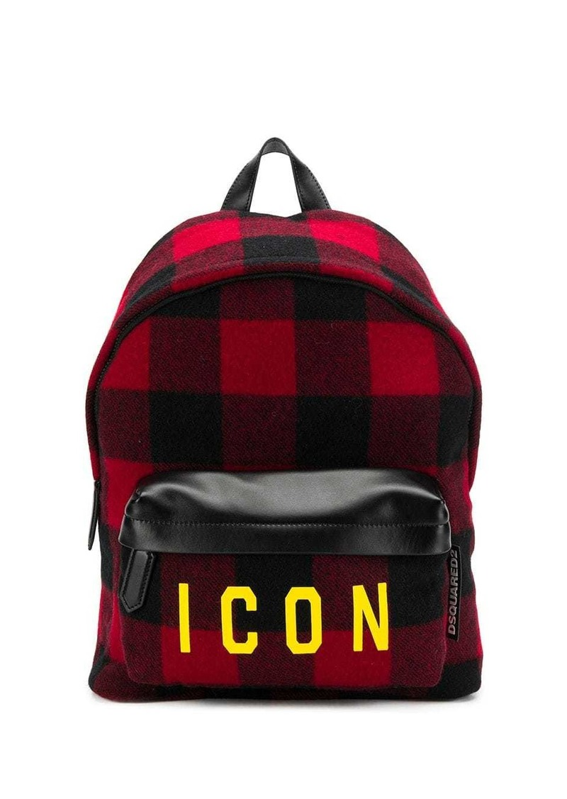 Dsquared2 plaid Icon backpack