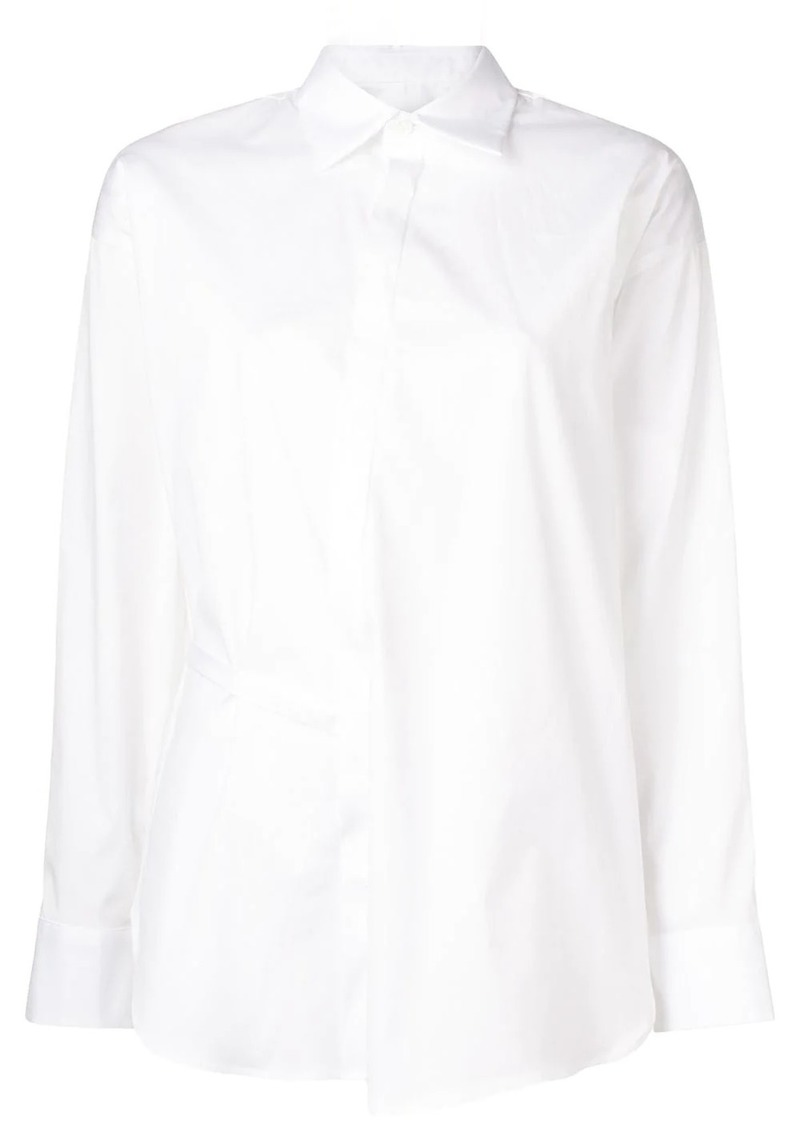 Dsquared2 plain asymmetric shirt