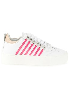 Dsquared2 platform sneakers with side stripes