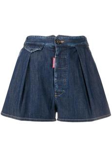 Dsquared2 pleated denim shorts