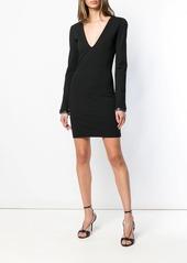 Dsquared2 plunge neck mini dress