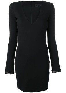 Dsquared2 plunge neck mini dress