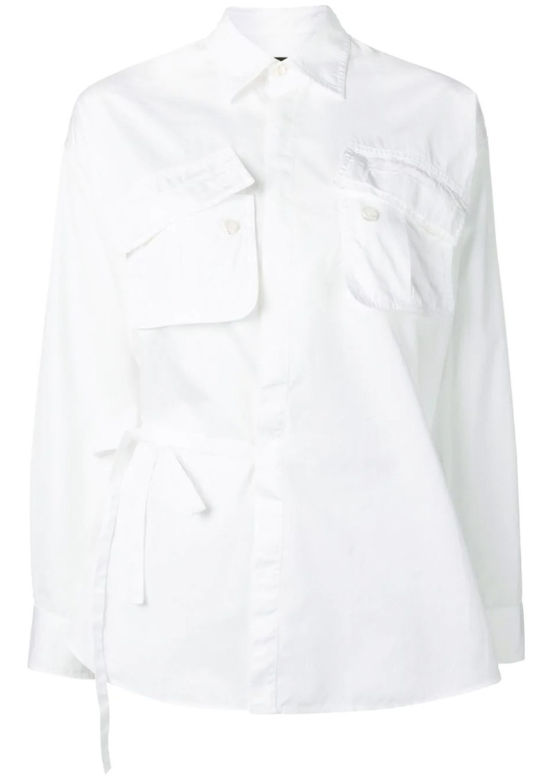 Dsquared2 pocketed wrap shirt