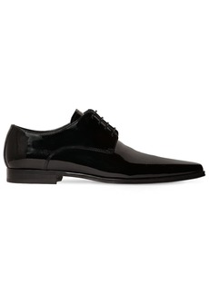 Dsquared2 Pointed Patent Leather Lace-up Shoes