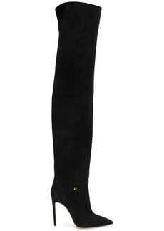 Dsquared2 pointed toe thigh-high boots