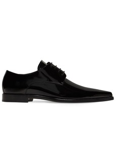 Dsquared2 Pointy Patent Leather Derby Lace-up Shoe