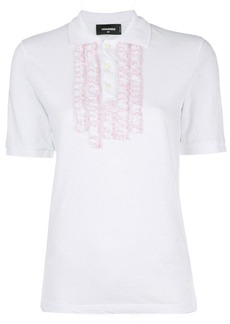 Dsquared2 polo shirt with frill embellishments