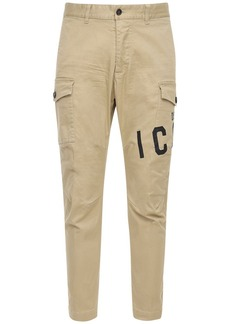 Dsquared2 Print Stretch Cotton Twill Cargo Pants