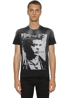 Dsquared2 Printed & Destroyed Cotton T-shirt
